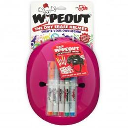 Шлем с фломастерами Wipeout M розовый