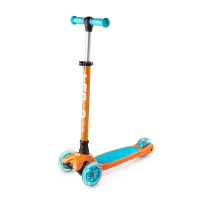 Самокат Trolo Maxi Shine 2017 оранжево-голубой