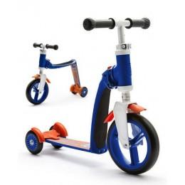 Беговел-самокат Scoot&Ride Highway Baby Plus сине-оранжевый