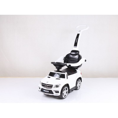 """Детская машинка каталка (толокар) с ручкой """"Mercedes-Benz GL63"""" White"""
