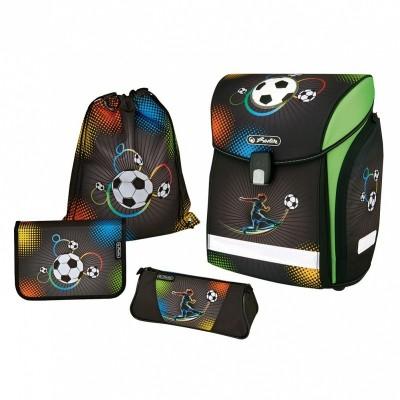 """Школьный ранец """"NEW MIDI PLUS"""" Soccer (с наполнением) Herlitz"""