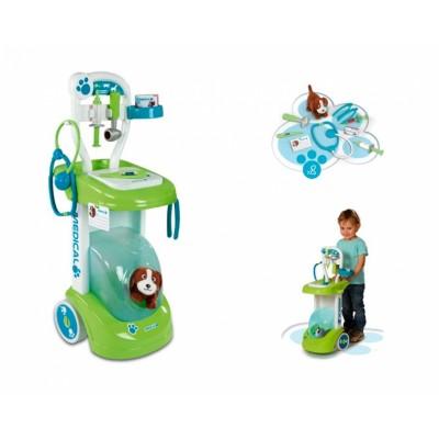 Игровой набор-тележка доктора - ветеринара с 8 аксессуарами (Смоби)