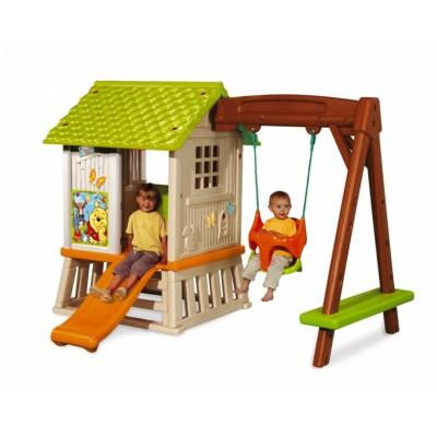 """Детский игровой домик из серии """"Winnie"""" с горкой и качелями (Смоби)"""