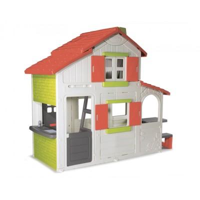 Детский игровой домик, 2-х этажный коттедж для друзей (Смоби)