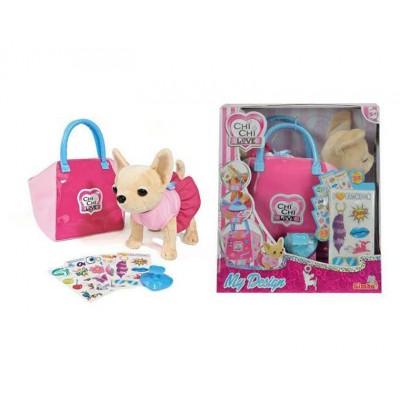 Плюшевая собачка Чихуахуа с сумочкой и набором для декорирования (Chi Chi Love)