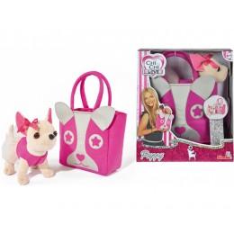 """Плюшевая собачка Чихуахуа """"Модница"""" с розовой сумкой (Simba)"""