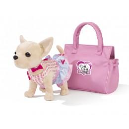 """Плюшевая собака Chi Chi Love """"Чихуахуа, в платье и сумочке"""" (Simba)"""