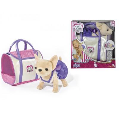 Плюшевая собачка Чихуахуа в стильной сумке
