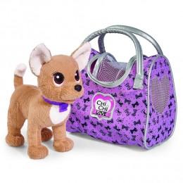 """Плюшевая собачка Chi Chi Love """"Путешественница"""", с сумкой-переноской (Simba)"""